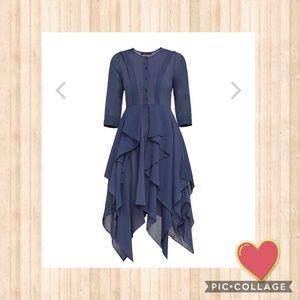 ❤️SALE! BCBG Maxazria Jovita Asymmetrical Dress XS